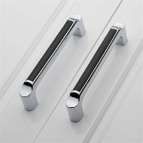 black handles for kitchen cabinets 5 quot modern fashion black kitchen cabinet handles shiny