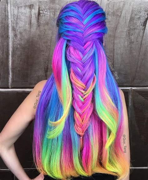 rainbow color hair ideas 17 best ideas about rainbow hair on pinterest hair dye