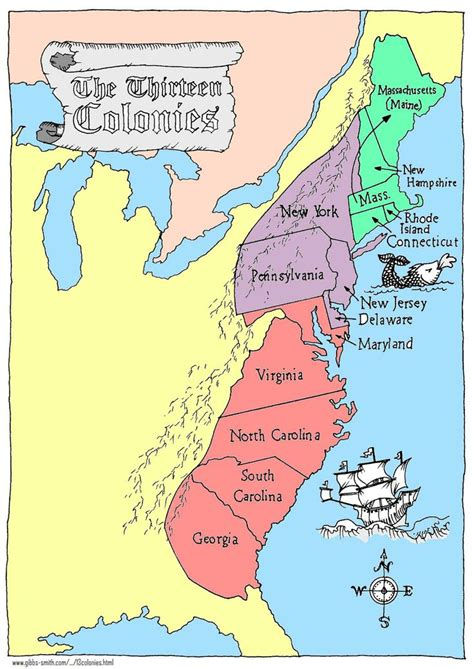 thirteen colonies map thirteen colonies map 3rd quarter student teaching