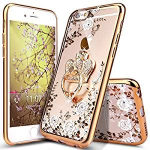 Casing Slim Luxury Plating Flower Iphone 6 6s Cover Softcase iphone 6 iphone 6s ikasus glitter plating butterfly floral slim