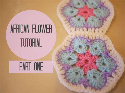an pattern youtube crochet african flower tutorial part one bella coco