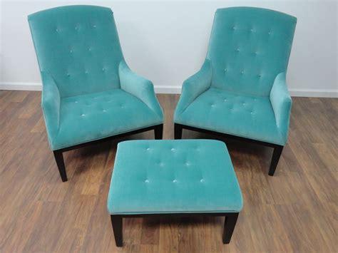 Aqua Furniture by Fabiole Tufted Chair In Aqua Velvet Mecox Gardens