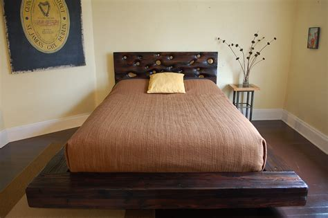 How To Build A Headboard And Footboard by Unique Rustic Bed Frames Designs Decofurnish