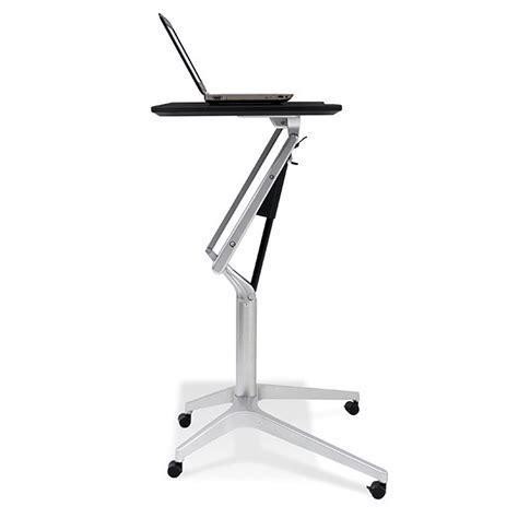 Pneumatic Sit Stand Adjustable Computer Desk Review And Sit And Stand Computer Desk