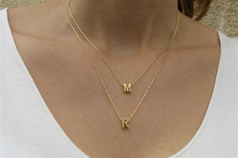 Goldfilled Initial Necklace   Gold Letter Necklace, Gold Necklace, Bridesmaid Gift, Layers