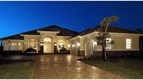 luxury one story house plans mediterranean style luxury one story mediterranean house