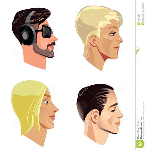 fotos para perfil varon las cabezas de los hombres en perfil ilustraci 243 n del