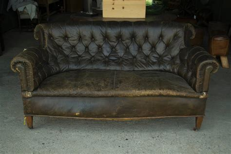 Leather Vintage Sofa Vintage Leather Chesterfield Sofa For Sale At 1stdibs