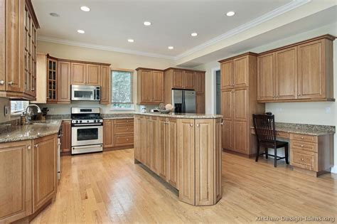 Kitchens With Light Cabinets Pictures Of Kitchens Traditional Light Wood Kitchen Cabinets Kitchen 152