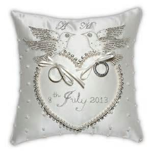 Wedding Ring Cushion by Colombes Wedding Ring Cushion Olivier Laudus