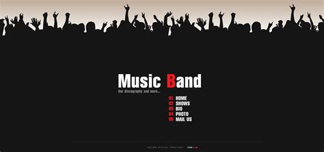 band templates band flash template 28022