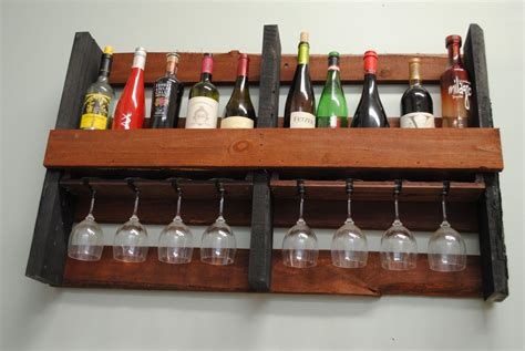 Mounted Spice Rack Hand Crafted Wall Mounted Pallet Wine Rack By Shigamasham