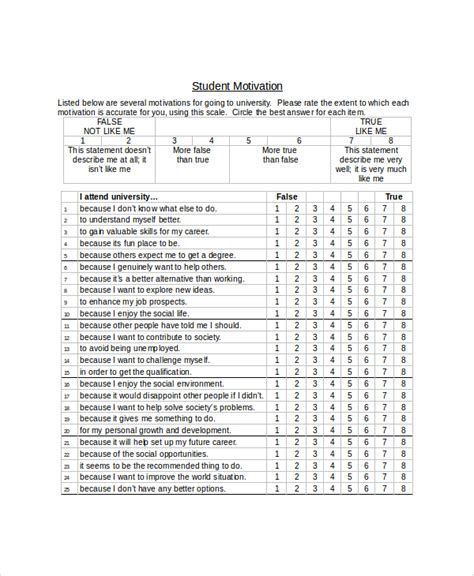 student satisfaction questionnaire template sle student survey 7 documents in pdf word