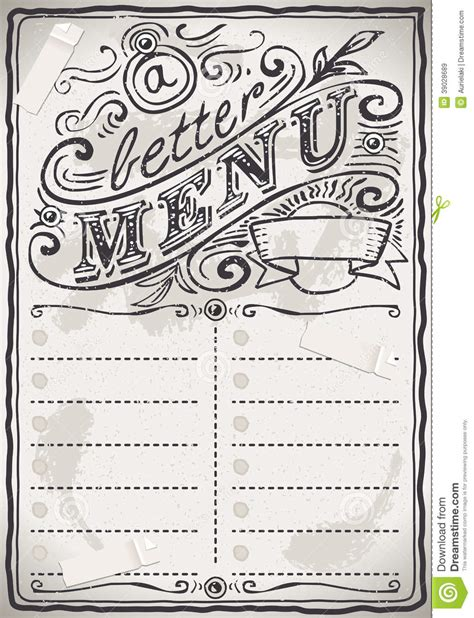 free restaurant menu coloring pages