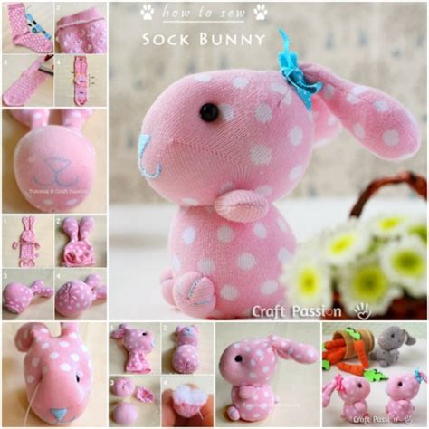 Handmade Creative Ideas - sock bunny tutorial creative ideas image 2645301 by
