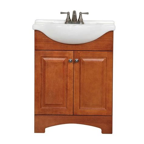 glacier bay chelsea 24 in vanity in nutmeg with porcelain