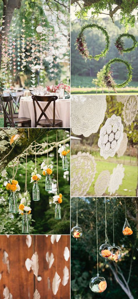 diy outdoor wedding decor ideas beautiful and stylish wedding hanging decorations
