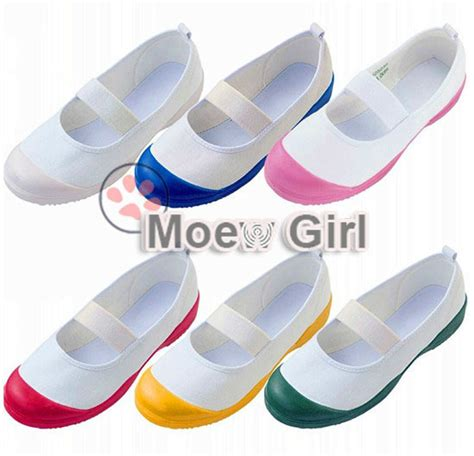 Flat Shoes Anti Licinalas Karet 1 japan japanese school uwabaki shoes sports indoor shoes flat anti sweat anti