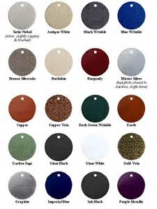 color of metals metal roofing siding color chart images