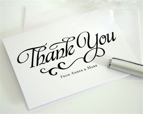 unique script thank you cards in black and white thank you cards by shine
