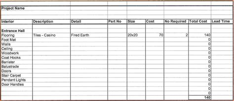 home renovation spreadsheet excel spreadsheets group