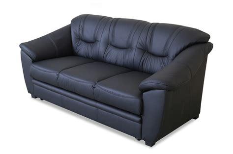 3er Sofa Leder leder 3er sofa mit schlaffunktion schwarz sofas zum