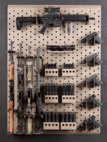 Pegboard Gun Rack by Vertical Rifle Rack Plans Free Woodworking Projects Plans