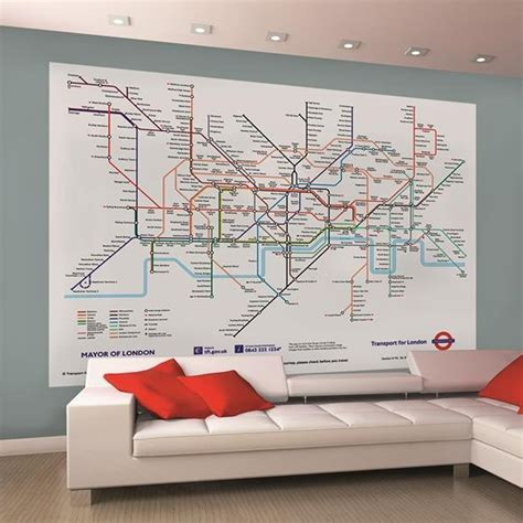 bedroom tube s london underground tube map wallpaper wall mural 2 32m x 1