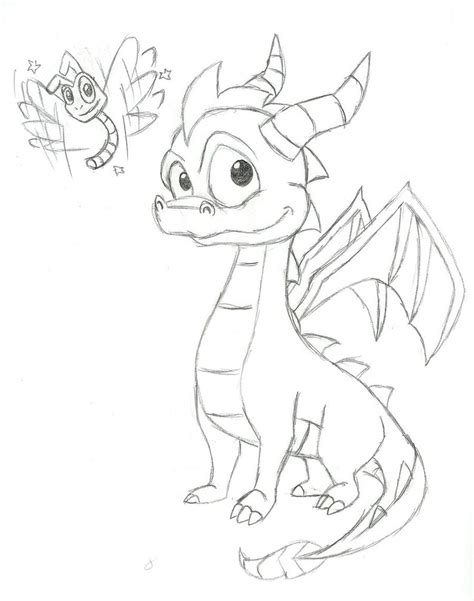 spyro the dragon free colouring pages