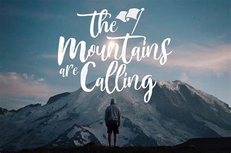 mountain brush font befontscom
