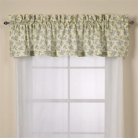 laura ashley caroline curtains laura ashley 174 caroline window valance bed bath beyond
