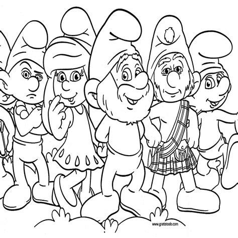 dibujos para colorear pdf dibujos de los pitufos para colorear pitufos imprimir