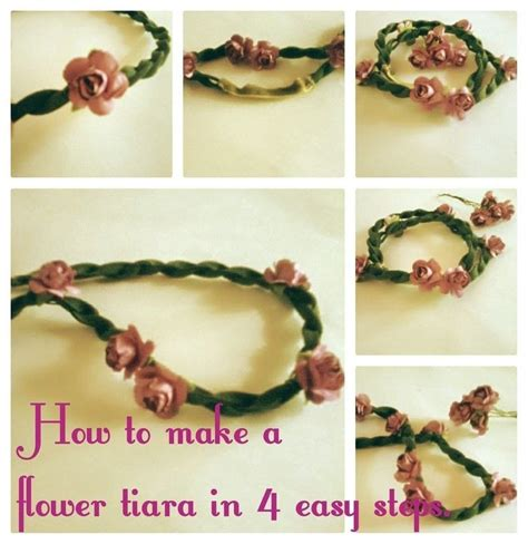 How To Make A Flower Crown Out Of Paper - how to make a flower tiara in 4 easy steps 183 how to make