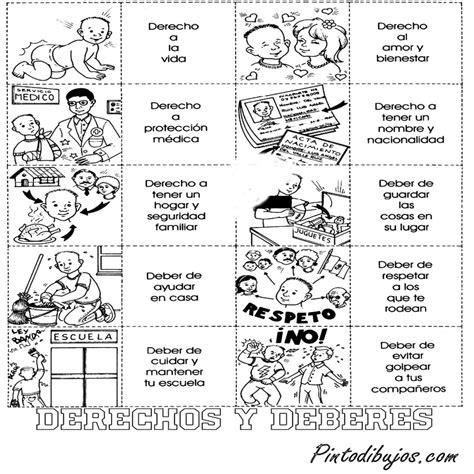 imagenes en blanco y negro de niños y niñas derechos y deberes de los ni 195 os para colorear derechos