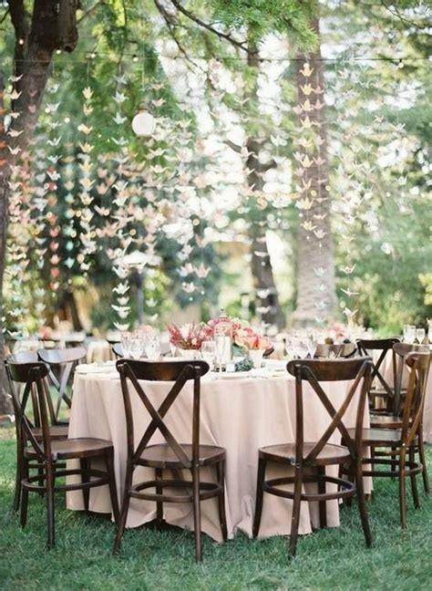 Beautiful Outdoor Reception Setting My Inexplicable Backyard Wedding Reception
