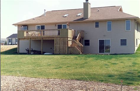 2 Story Home With Deck Back Porch Deck Addition In Lansing Mi Steve Way