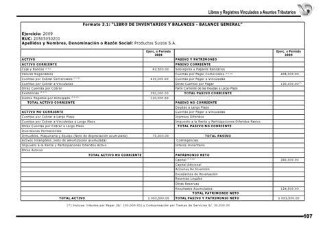 formato 3 1 sunat 45 hojas practicos contabilidad capitulo 119