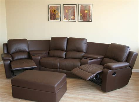 movies theaters with couches brown black real genuine leather home theater seating