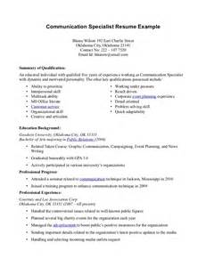 Communication Skills Resume Example Resume Communication Anuvrat Info
