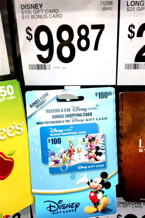 Can A Sam S Gift Card Be Used At Walmart - money saver 100 disney gift cards with a bonus 10 gift card are back at sam s club