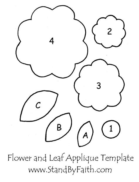 free applique templates free flower and leaf applique template applique