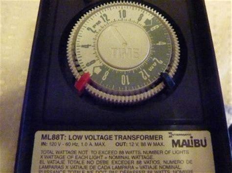 malibu light timer malibu ml88t intermatic low voltage landscape lighting