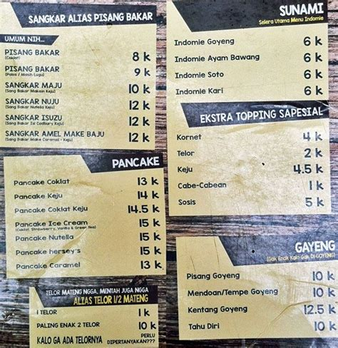 harga menu warkop  tertukar terbaru
