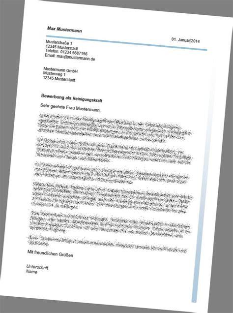 Bewerbung Hausmeister Vorlage Bewerbung Als Reinigungskraft Muster Yournjwebmaster