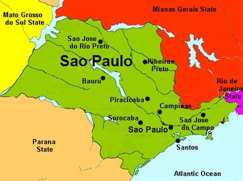 sao paulo state map sao paulo map