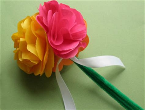 Craft Work Paper Flowers - make flowers with tissue paper make flowers with tissue