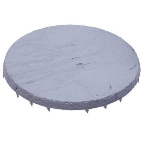 decorative stepping stones home depot emsco 16 in x 16 in natural slate color round resin step
