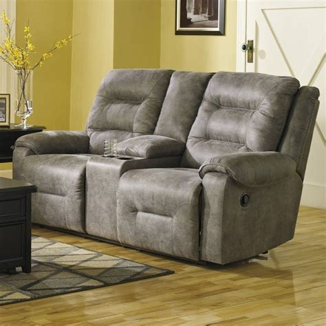 ashley dual reclining sofa ashley furniture rotation double reclining loveseat in