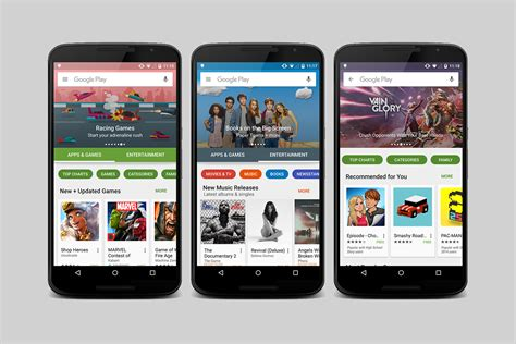 mobile play store play store s visual rev is rolling out now