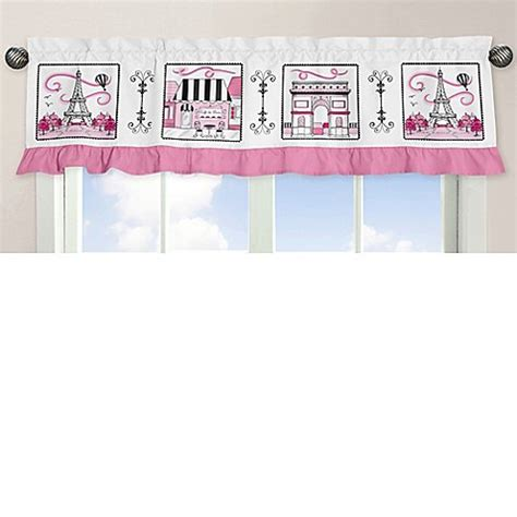 sweetest thing bathroom scene sweet jojo designs paris window valance bed bath beyond